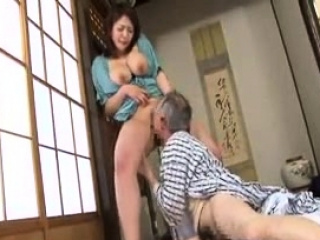 Privy busty Japanese wife titjob