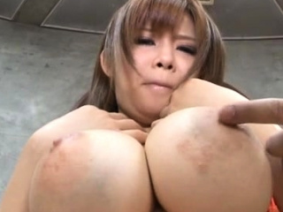 Arousing tugjob and tit fuck with regard to a awesome asian playgirl