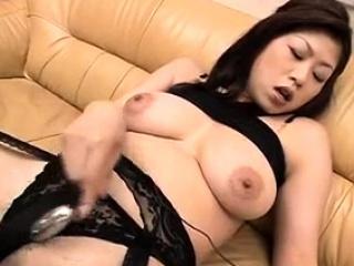 Nana Masaki loves moving down dildo inside her cunt - More elbow