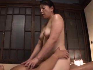 Excited oriental mature gets their way mouth added to pussy fucked