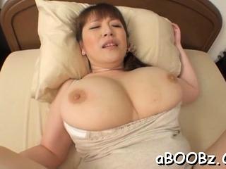 Hot grown up idol Nami Horikawa with big tits enjoys rear fuck