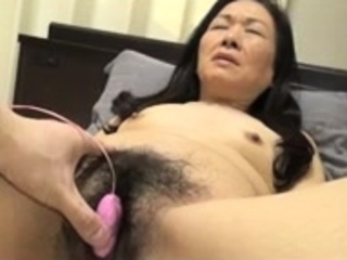 Bound Japanese muted pussy toying