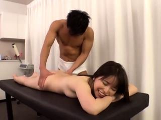 Asian amateur masturbates with a pithy